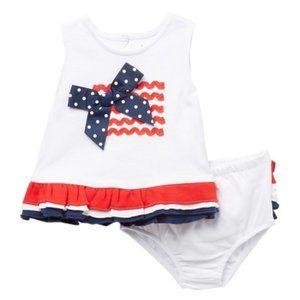 Baby Starters American Flag Tunic & Bloomer Set